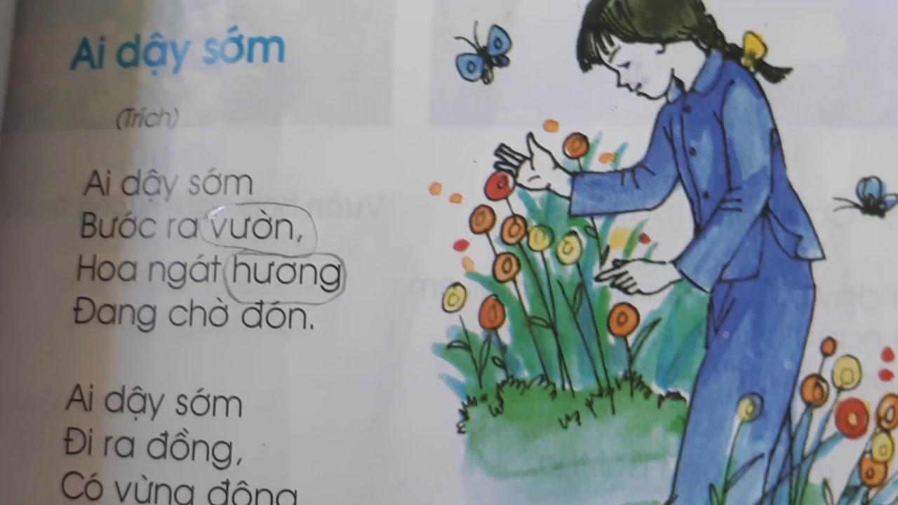 """Tiếng Việt lớp 1 - Học thuộc lòng bài thơ """"Ai dậy sớm"""""""