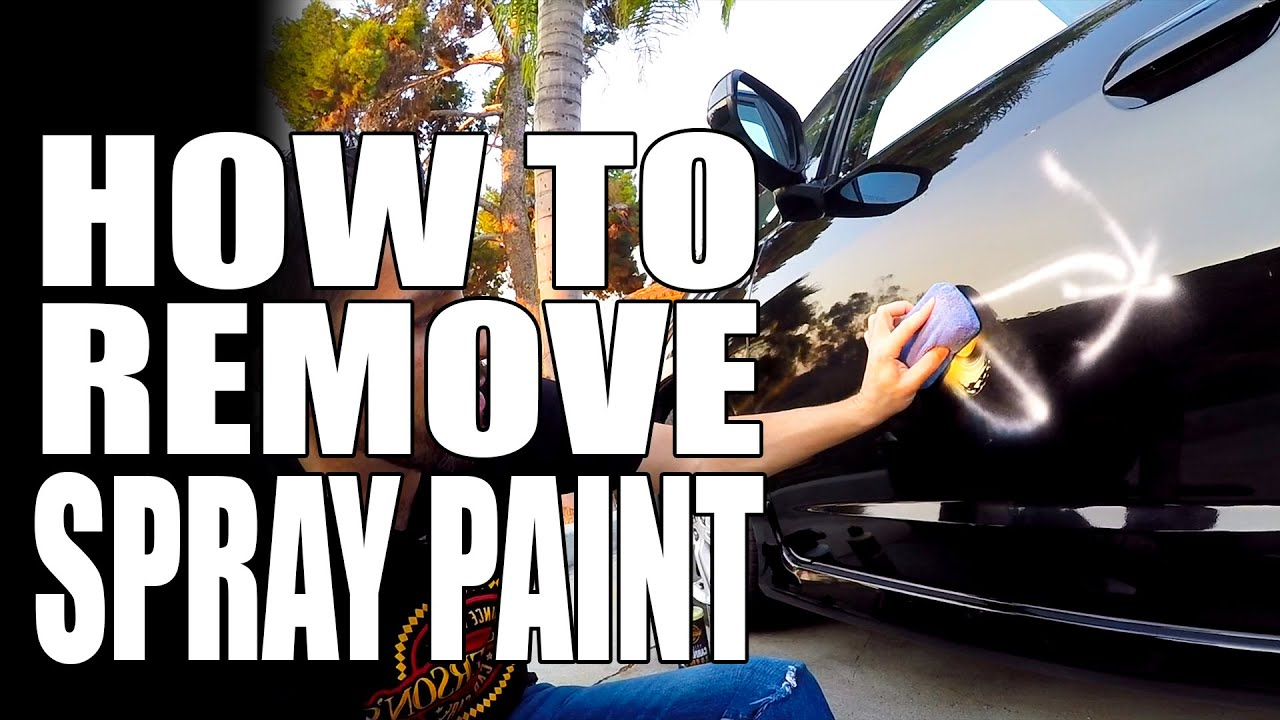 Remove Spray Paint From Car >> How To Remove Spray Paint Graffiti Masterson S Car Care Tips Tricks
