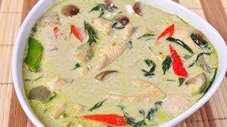 [thai Food] Green Curry With Chicken (gang Kieaw Wahn Gai)
