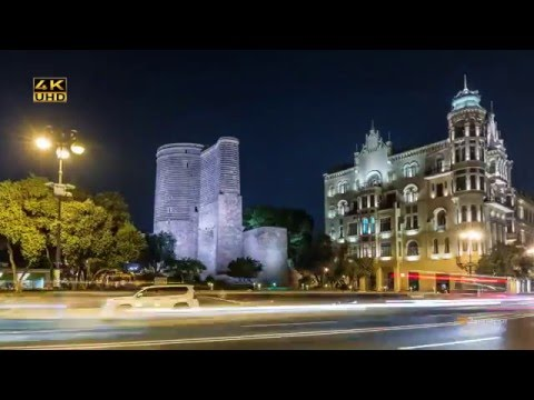 Baku, the capital of Azerbaijan! (Time Lapse)