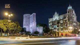Baku, the capital of Azerbaijan! (Time Lapse)