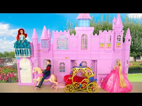 Princess Barbie doll Pink Purple Castle Unboxing & Review Istana boneka Barbie Palácio da Barbie