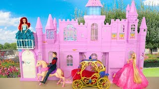 Princess Barbie doll Pink Purple Castle Unboxing & Review Istana boneka Barbie Palácio da Barbie