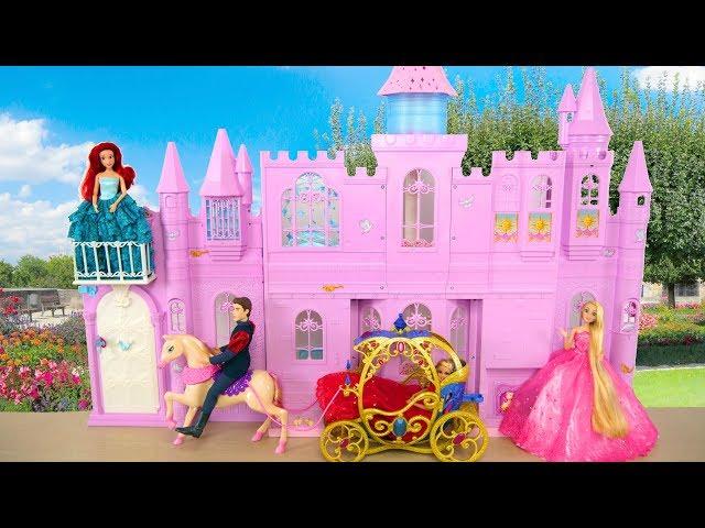 Princess Barbie doll Pink Purple Castle Unboxing   Review Istana boneka  Barbie Palácio da Barbie  905588ca37