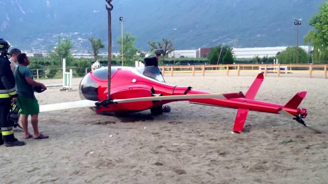 Elicottero Usato : Elicottero ultralight kiss 209m atterrato in autorotazione youtube