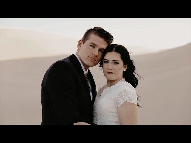 Golden Hour Bridal Shoot at Little Sahara Sand Dunes | Mckayla & Ashton | Utah First Look |