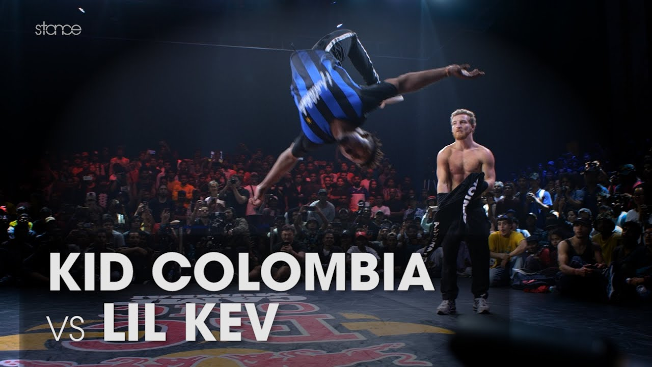 Kid Colombia vs Lil Kev (stance angle) // RED BULL BC ONE WORLD FINALS MUMBAI // Powermove Final