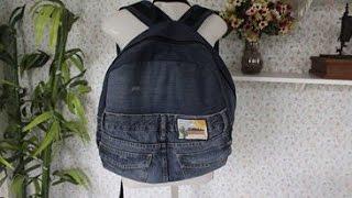 Mochila de calça jeans masculina – Reciclando com Arte de Paninho