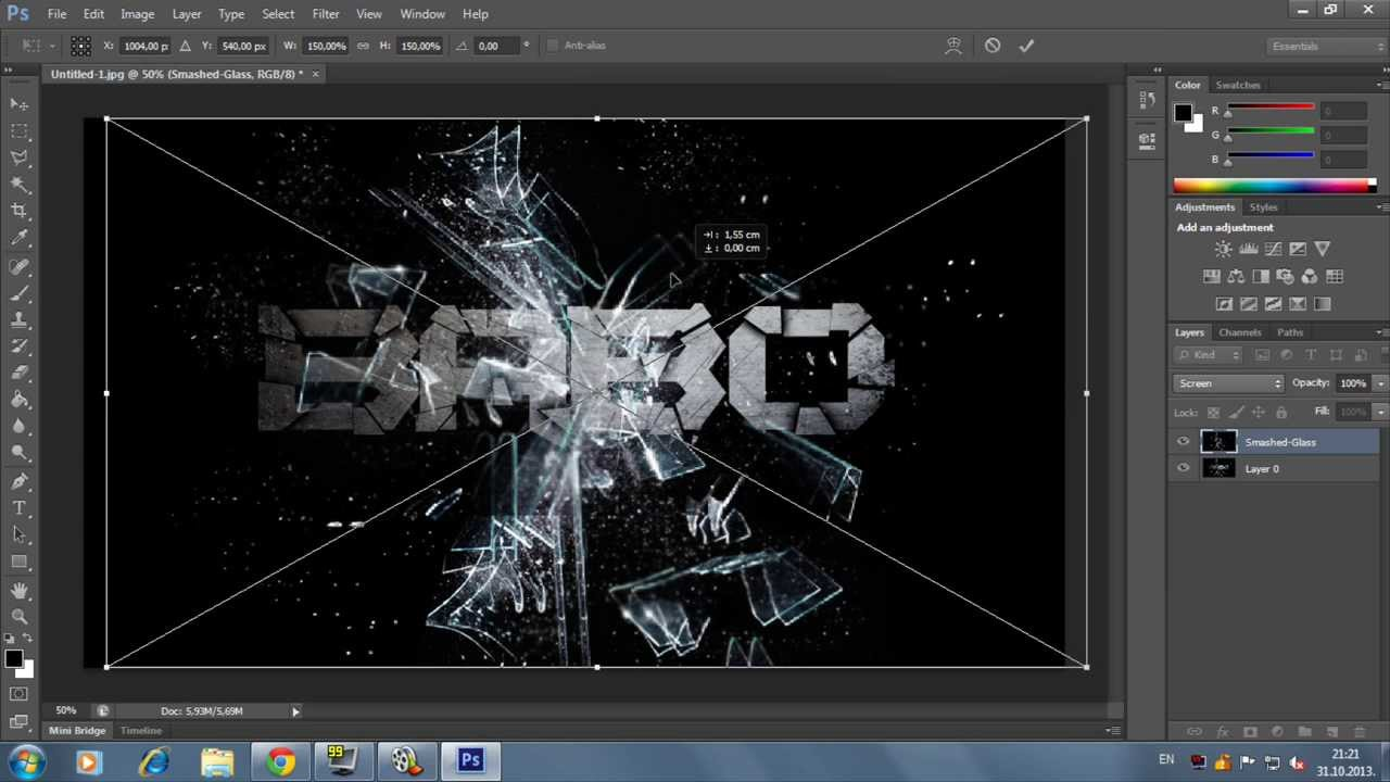 Cool Text Effect in Photoshop CS6 Tutorial - YouTube