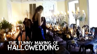 Making Of Hallowedding, Halloween Vintage Wedding in Portugal Funny Set Up by Lisbon Wedding Planner