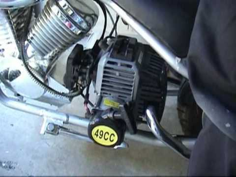 Margo's electric start, 49cc, 2stroke, Chinese, mini chopper knockoff knock off  YouTube