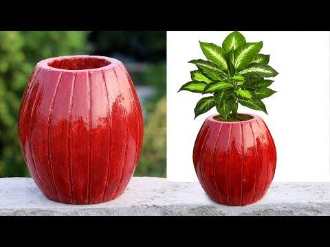 Flower Pot making at home || Stylist basket make || ❀ flower vase making