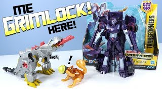 Transformers Cyberverse Action Attackers Grimlock and Shadow Striker Ultra Class