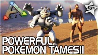 POWERFUL POKEMON TAMING, MACHAMP, PIGEOT!! - POKEMON ARK MOD - ARK Pokemon Evolved Gameplay Part 3
