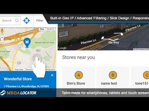 Mega Locator Theme for Super Store Finder (Flat Theme Store Locator)