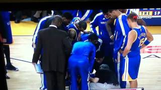 Steph Curry gets his ankle broke literally