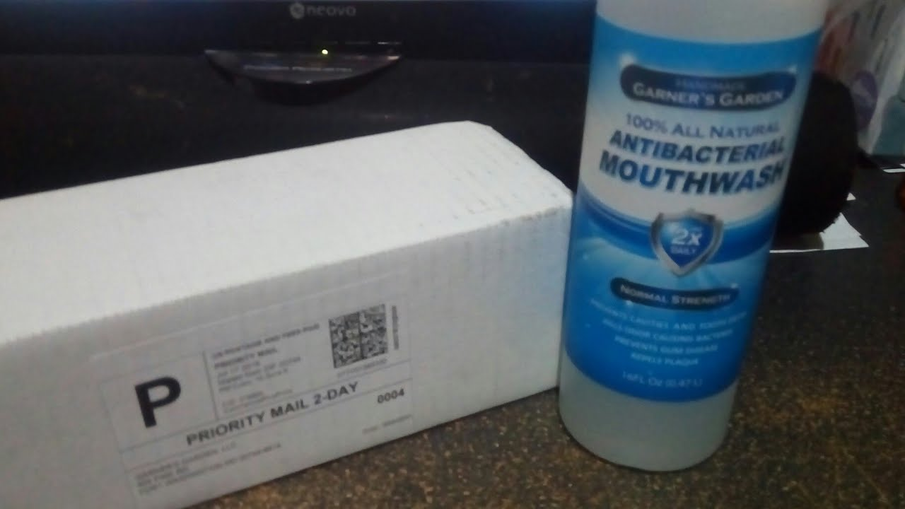 Unboxing the Garner's Garden Normal Strength Mouthwash