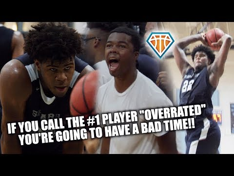 """FANS CHANT """"OVERRATED"""" AT DUKE COMMIT VERNON CAREY!! Proceeds to DUNK EVERYTHING & Drop 33"""