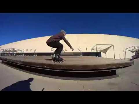 Urban skating with the Rollerblade Twister Edge in Zaragoza - Fabian aka Rollerlobo