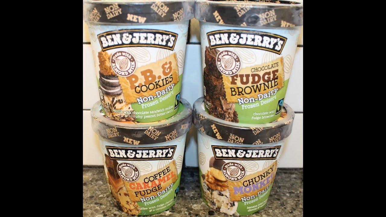 Ben Jerry S Vegan Non Dairy P B Cookies Fudge Brownie Coffee Caramel Chunky Monkey You