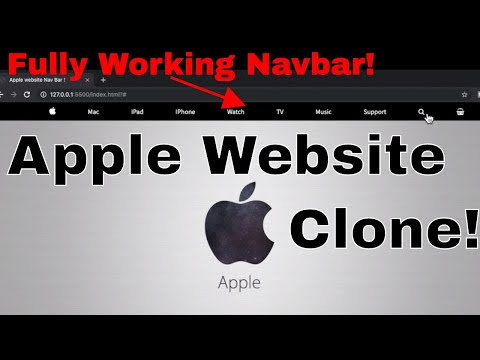 Apple Website Design Tutorial(navbar)[HTML And CSS TUTORIAL] For Beginners