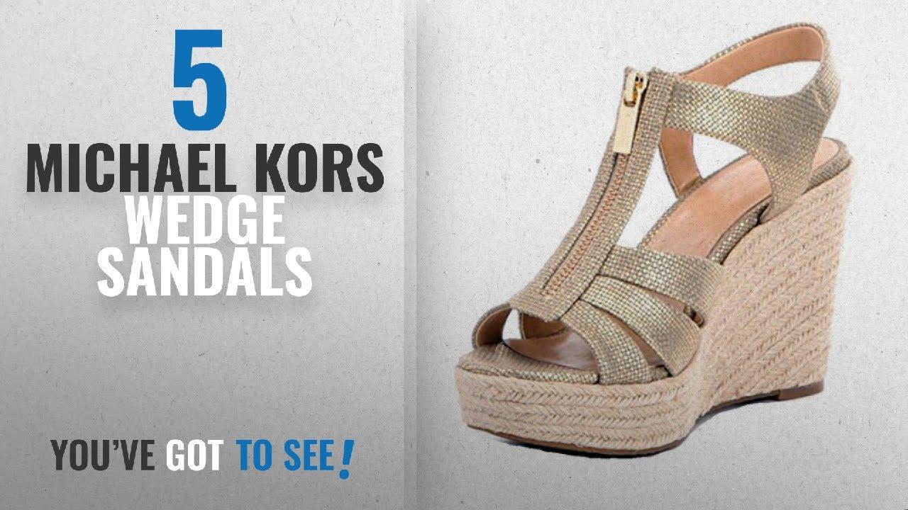 3f18e583ef Top 5 Michael Kors Wedge Sandals [2018]: Michael Kors Women's ...