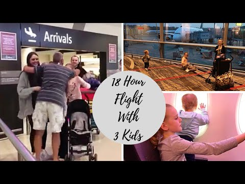 18 Hour Flight With 3 Kids  |  Travel Day To Australia