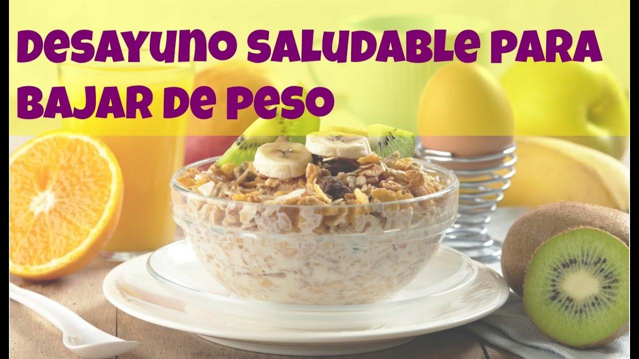 Desayunos Saludables Para Bajar De Peso Para Ninos