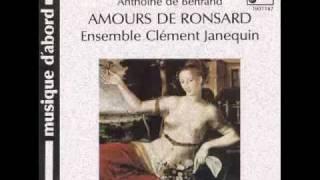 Amours De Ronsard. Ha Seigneur Dieu, que de graces écloses.  Anthoine de Bertrand.