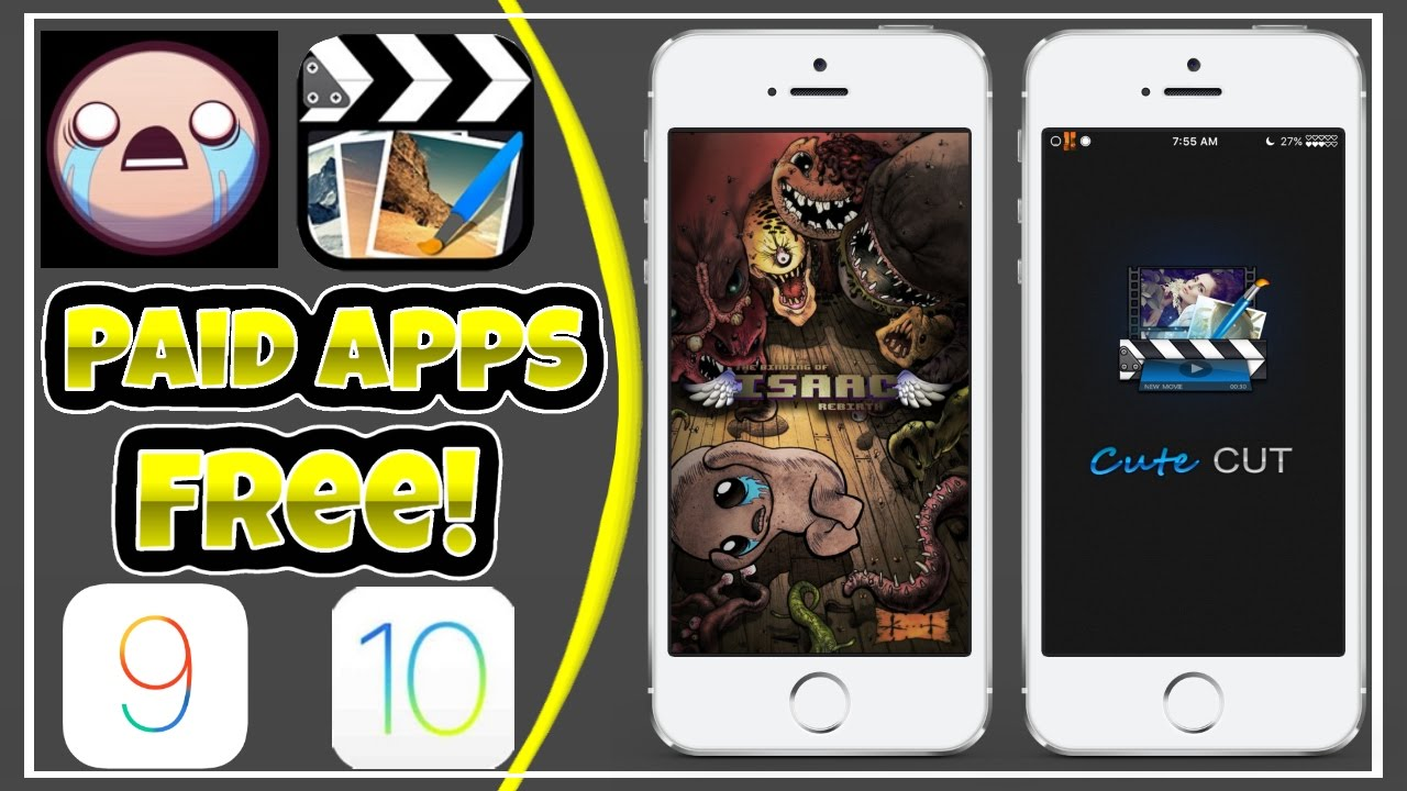 Get Binding Of Isaac & Cute Cut Pro Free On iOS 10/9! NO PC/JB!
