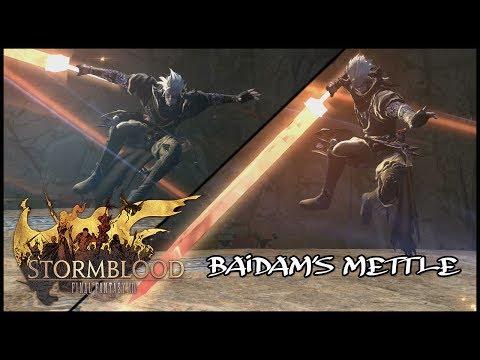 FINAL FANTASY XIV: STORMBLOOD BAIDAM'S METTLE Dungeon Level 63 NINJA GAMEPLAY