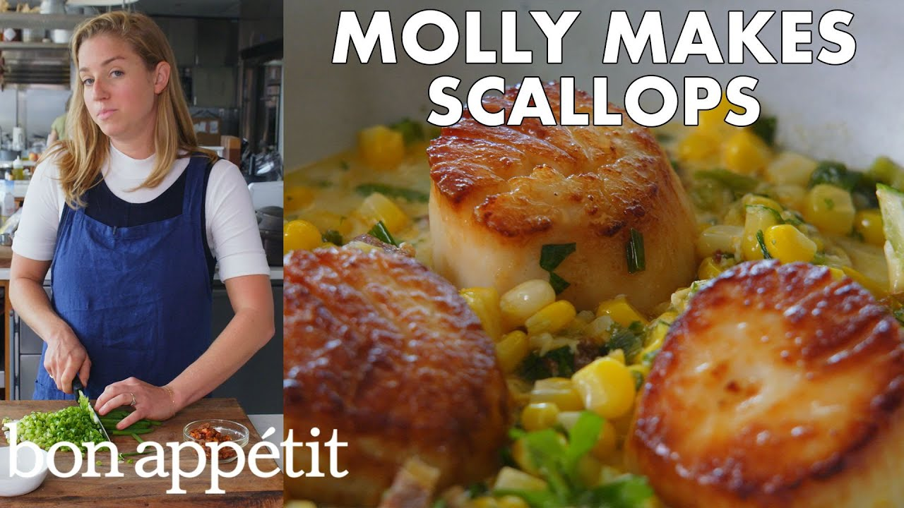Molly Makes Scallops with Corn and Chorizo   From the Test Kitchen   Bon Appétit