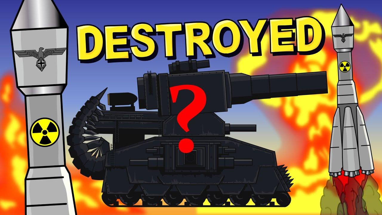Dark Dorzilla destroyed? - Cartoons about tanks