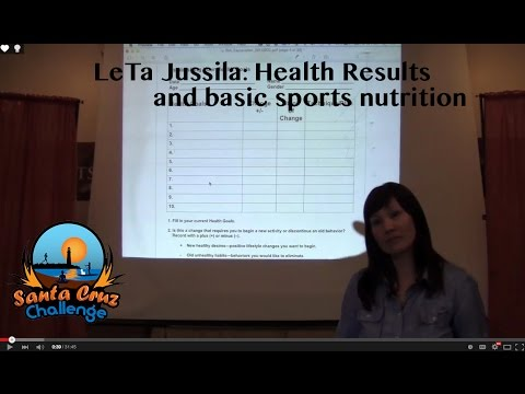 LeTa talks about the BIA health test and Sports Nutrition