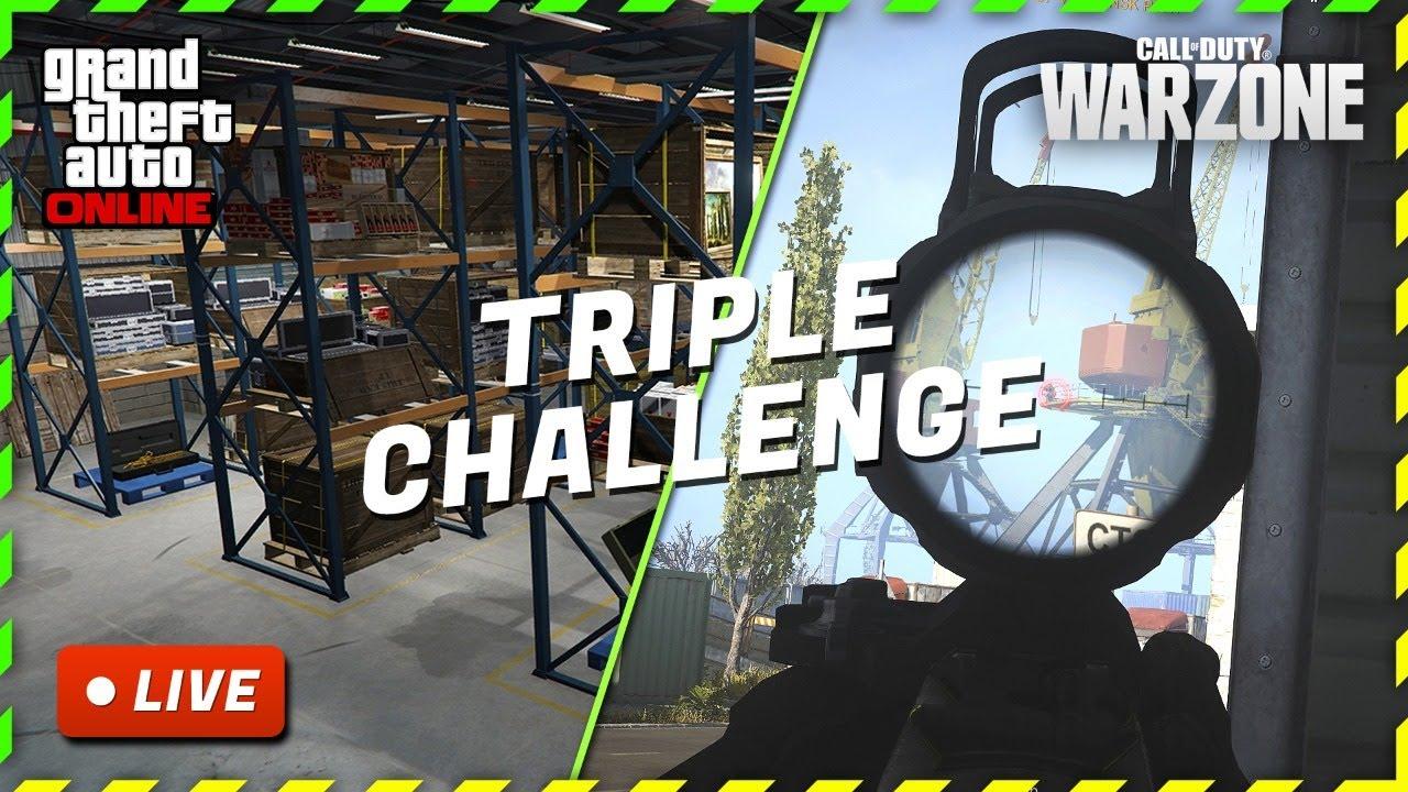 🔴 GTA Gentleman - LIVE - Intense Triple Challenge in GTA Online & Call of Duty Warzone