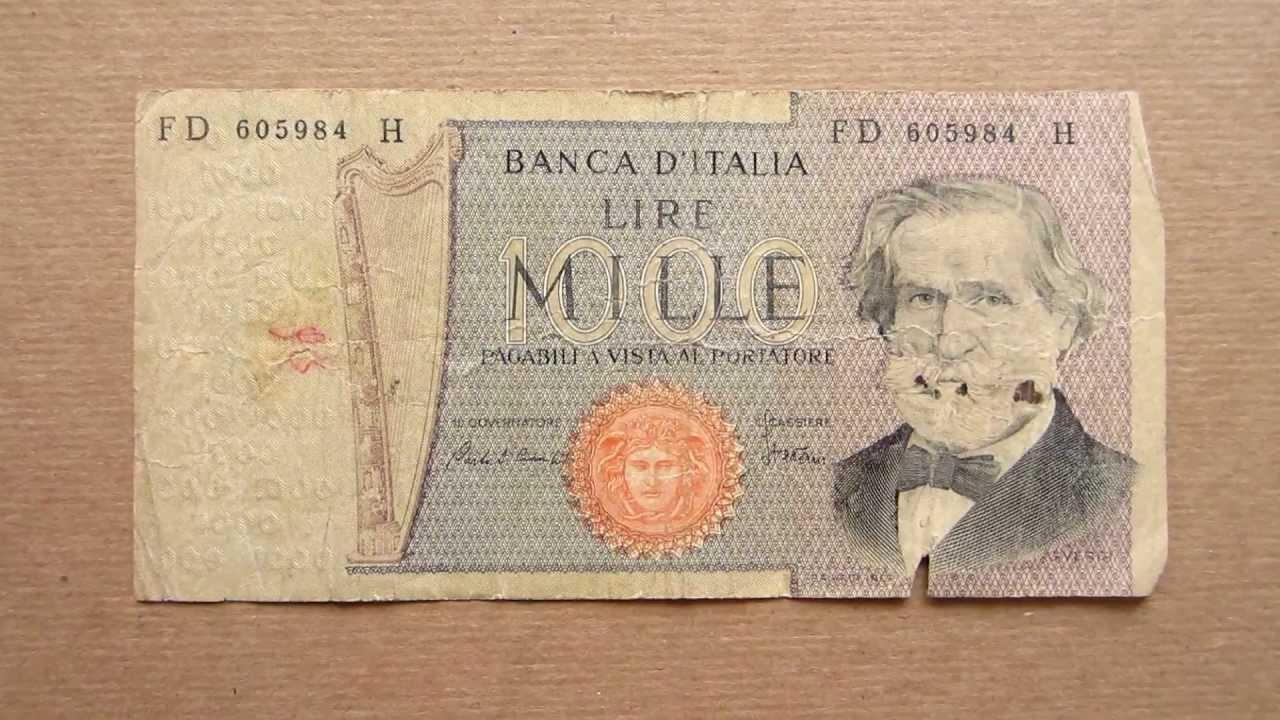 1000 Italian Lire Banknote Thousand Italian Lire 1980 Obverse