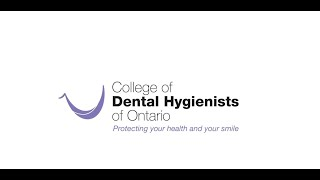 Message from the College of Dental Hygienists of Ontario's Registrar