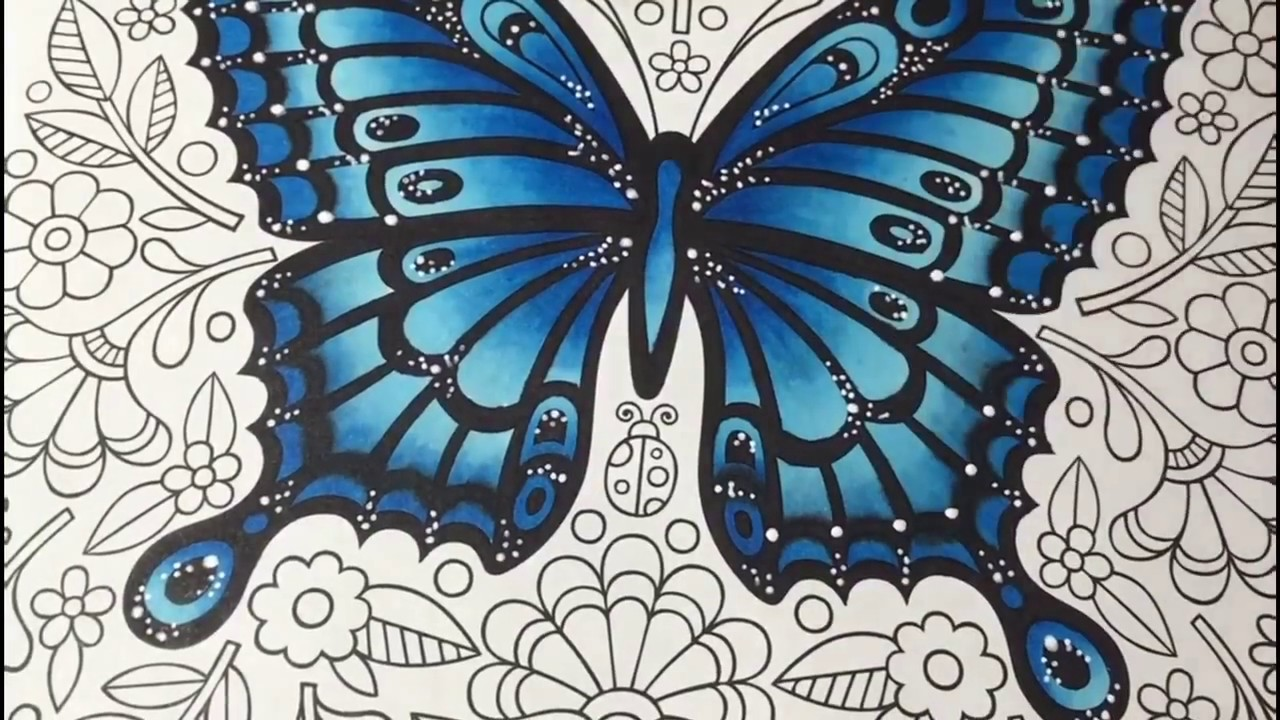 Finecolour Coloring In Butterfly Mandalas Book