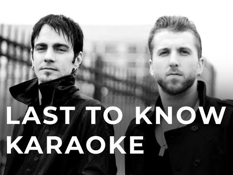 Three Days Grace Last to know Karaoke