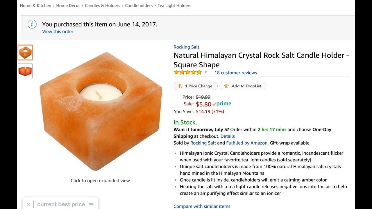 Natural Himalayan Crystal Rock Salt Candle Holder by Rocking Salt
