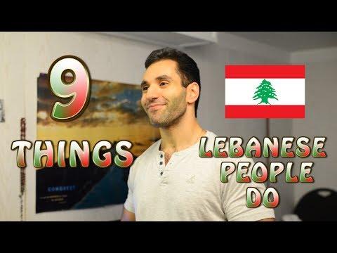9 things lebanese people do!