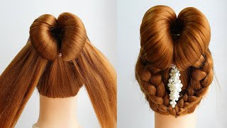 Updo Hairstyle With Braids Pretty Hairstyle Tutorial For Wedding Simple Hairstyles For Prom