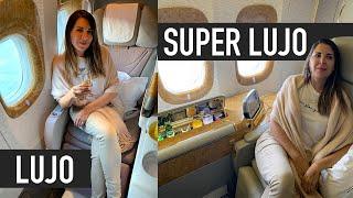 EJECUTIVA vs. PRIMERA CLASE de EMIRATES (el avión más lujoso!) | Ceci de Viaje