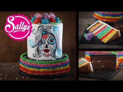 Halloween Torte La Catrina – Skelett Gesicht / Sallys Welt