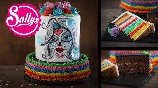 Halloween Torte La Catrina – Skelett Gesicht