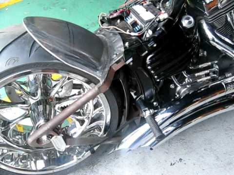 Harley Davidson Rocker c with 300 wide tire kit and EMS air ride by  mehrang75