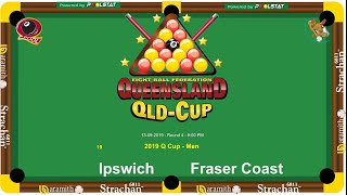 2019 Q-Cup Mens 8 Ball Teams - Ipswich v Fraser Coast