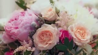 Оформление свадьбы в розовом цвете - ресторан Византий