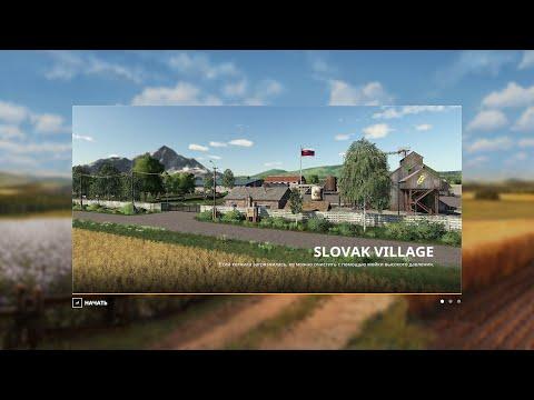 FS19 Словацкая деревня. Slovak Village. Супер карта. Сезоны, производства. Большие и маленькие поля.