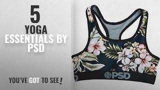 Top 10 Psd Yoga Essentials [2018]: PSD Women's Warm Flowers Sports Bra Underwear,Medium,Black